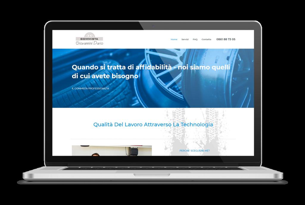 sito aziendale gommista GIOVANNINI DARIO