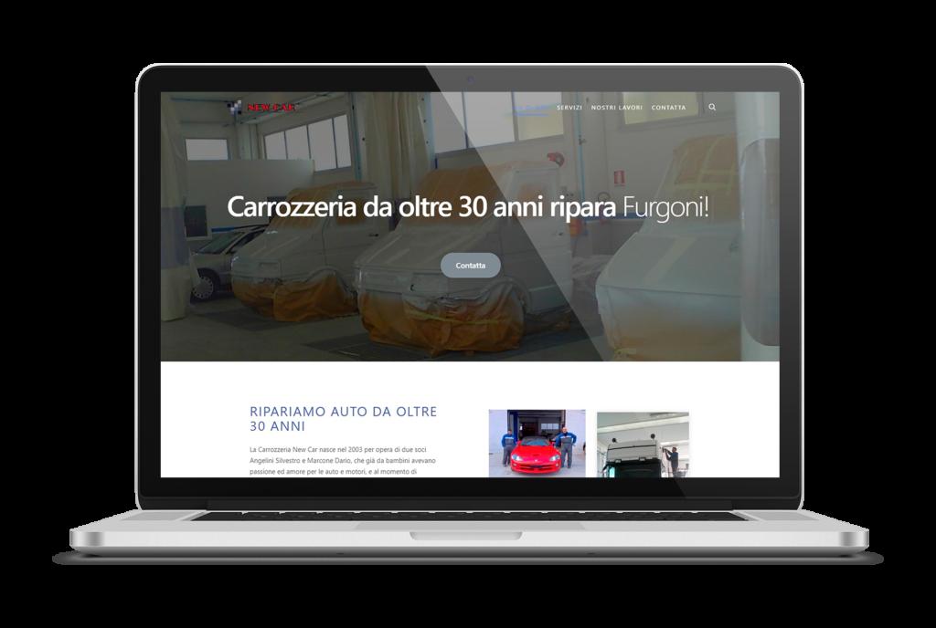 sito web carrozzeria new car