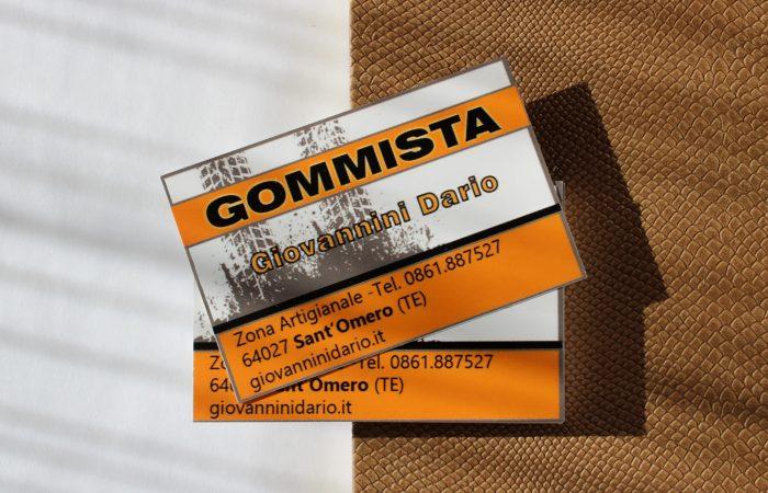 biglietto da visita gommista